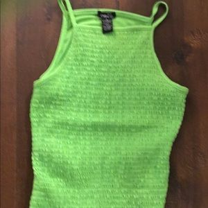 Green fitted top